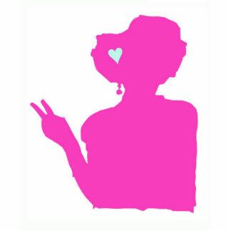 Escultura de la señora rosada foto fotoescultura vertical