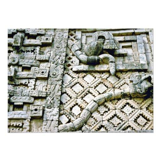 Escultura de la serpiente de cascabel en el conven comunicados