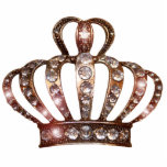 Escultura de la tiara del oro escultura fotografica