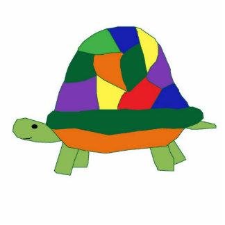 Escultura de la tortuga del arco iris fotoescultura vertical