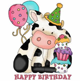 Escultura de la vaca del cumpleaños fotoescultura vertical