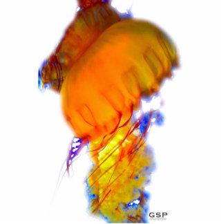 Escultura de las medusas fotoescultura vertical
