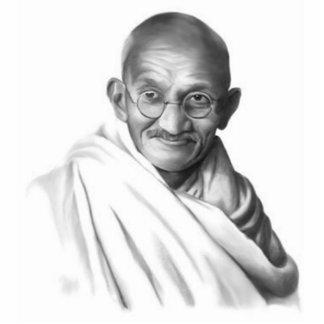 Escultura de Mahatma Gandhi Fotoescultura Vertical