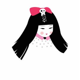 Escultura de Muerta #7 del geisha mini Fotoescultura Vertical