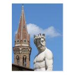 escultura de Neptuno en Fontana di Nettuno Postales