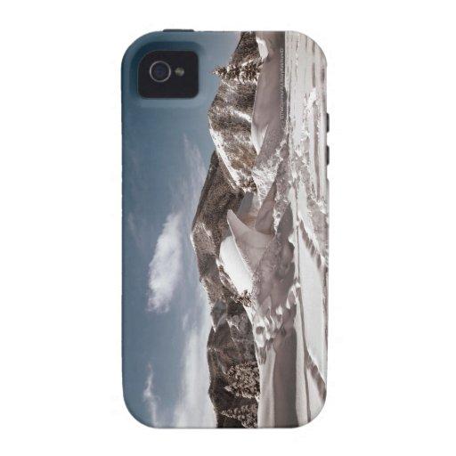Escultura de nieve del oso polar Case-Mate iPhone 4 funda