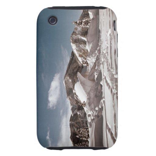 Escultura de nieve del oso polar tough iPhone 3 protector