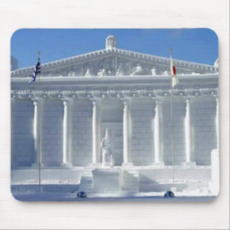 Escultura de nieve mouse pad