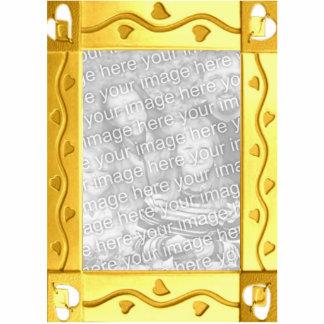Escultura de oro adaptable de la foto del marco fotoescultura vertical