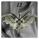 Escultura de piedra de Eagle Relojes