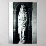 Escultura de piedra de John Donne en su cubierta Póster