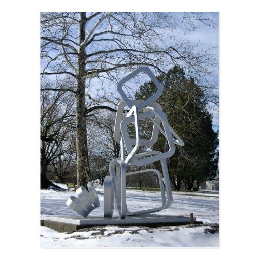 Escultura de plata en el parque de Mellon Postales
