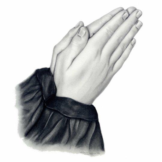 Escultura de rogación de la foto de las manos fotoescultura vertical