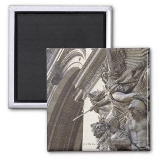 Escultura del alivio en Arco del Triunfo en París, Imán Cuadrado