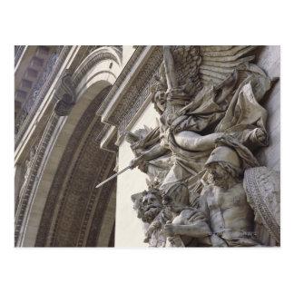Escultura del alivio en Arco del Triunfo en París, Postal