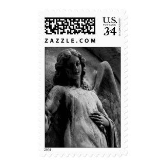 Escultura del ángel - franqueo sellos