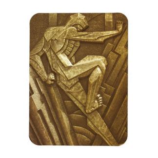 Escultura del art déco del vintage iman flexible