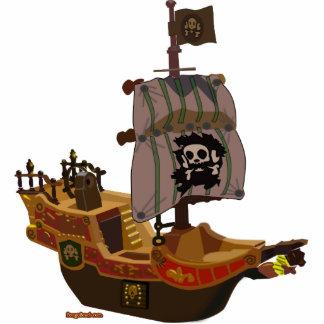 Escultura del barco pirata fotoescultura vertical