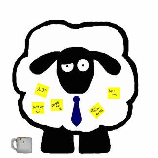 Escultura del escritorio de las ovejas de la ofici fotoescultura vertical