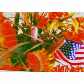 escultura del florz'n_a_Americanflag Llavero Fotográfico