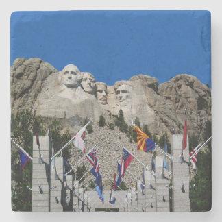 Escultura del granito de presidentes americanos posavasos de piedra