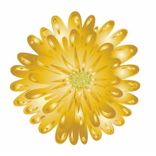 Escultura del imán del crisantemo del oro imán fotoescultura