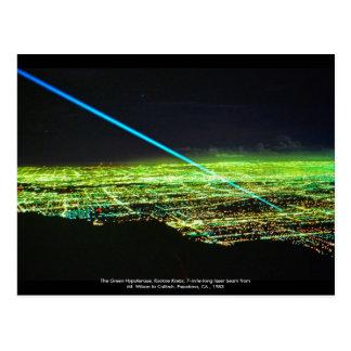 Escultura del laser por la postal de Rockne Krebs