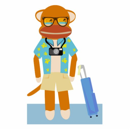 Escultura del mono de las vacaciones esculturas fotográficas