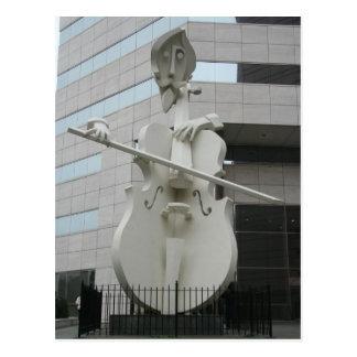 Escultura del músico postales
