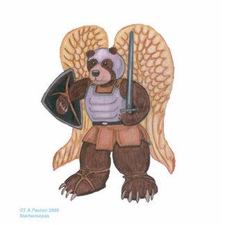 Escultura del oso del ángel del guerrero fotoescultura vertical
