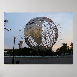 Escultura del parque de la corona - Unisphere Posters