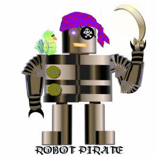 Escultura del pirata del robot fotoescultura vertical