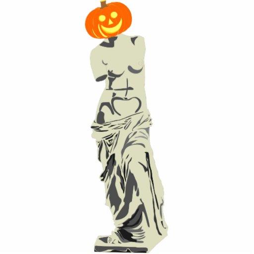 Escultura del ratón de la calabaza de Halloween y  Fotoescultura Vertical