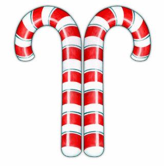 Escultura del rojo de los bastones de caramelo fotoescultura vertical