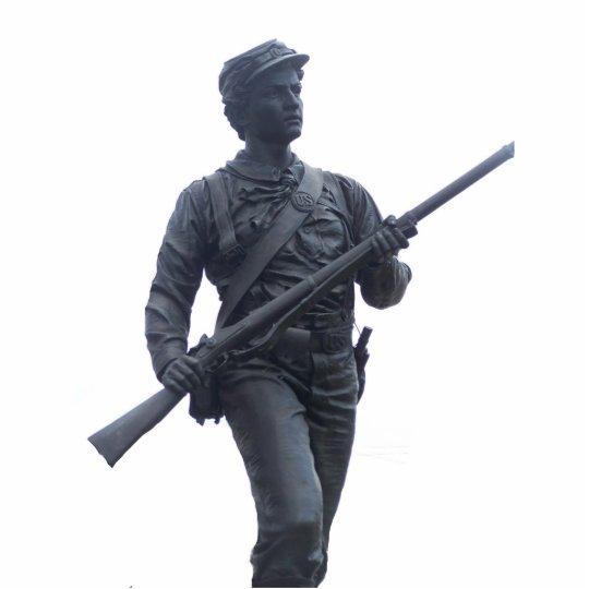 Escultura del soldado de la unión fotoescultura vertical