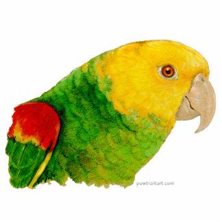 Escultura - el Amazonas dirigido amarillo doble Fotoescultura Vertical
