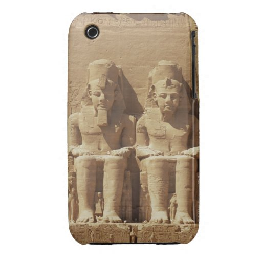 Escultura en Abu Simbel - El Cairo, Egipto Case-Mate iPhone 3 Protector