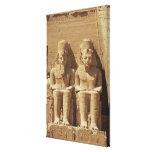 Escultura en Abu Simbel - El Cairo, Egipto Impresion En Lona