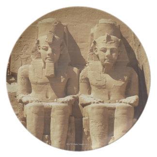 Escultura en Abu Simbel - El Cairo, Egipto Plato De Cena