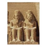 Escultura en Abu Simbel - El Cairo, Egipto Postal