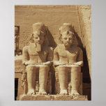 Escultura en Abu Simbel - El Cairo, Egipto Póster