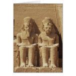 Escultura en Abu Simbel - El Cairo, Egipto Tarjeta De Felicitación