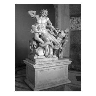 Escultura en el museo de Vatican, Roma de Laocoon. Tarjetas Postales