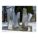 Escultura en la nieve postal