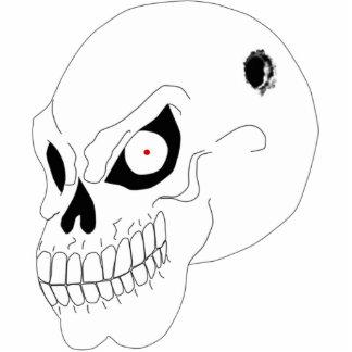 Escultura enojada del llavero del cráneo llavero fotográfico