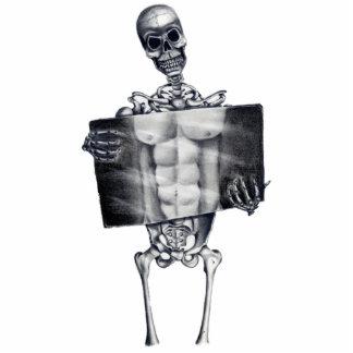 Escultura esquelética de la foto de la radiografía esculturas fotográficas
