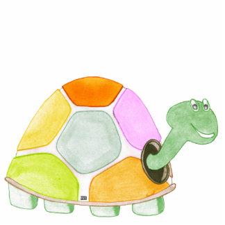Escultura feliz del acrílico de la tortuga fotoescultura vertical