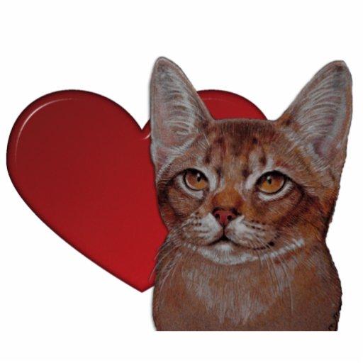 Escultura - gato abisinio escultura fotografica