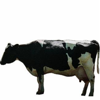 Escultura grande de la vaca lechera escultura fotografica