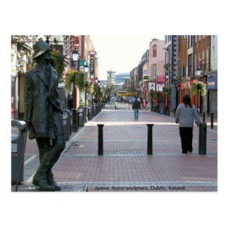 Escultura irlandesa del autor de James Joyce, Tarjetas Postales